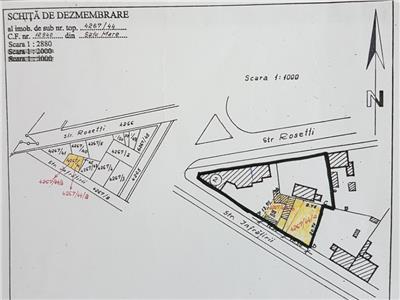 Teren cu casa veche, colt infratirii-closca-rosetti 1363 mp
